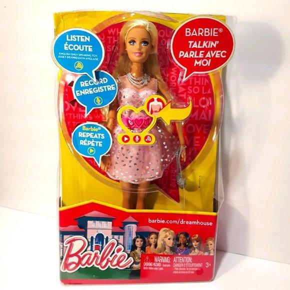 Life In The Dreamhouse Talkin' Barbie Doll In Box